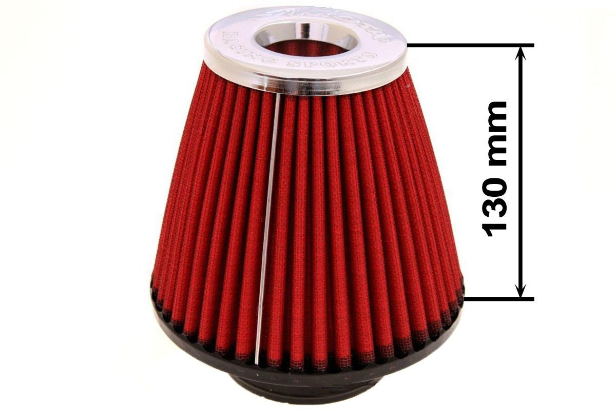 Filtr stożkowy SIMOTA JAU-X02109-05 60-77mm Red - GRUBYGARAGE - Sklep Tuningowy